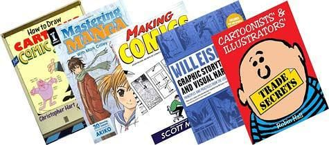 5 top rated 'how to' cartooning books reviewed at http://doodlums.com/5-great-books-cool-cartoon-drawing-ideas-tips/