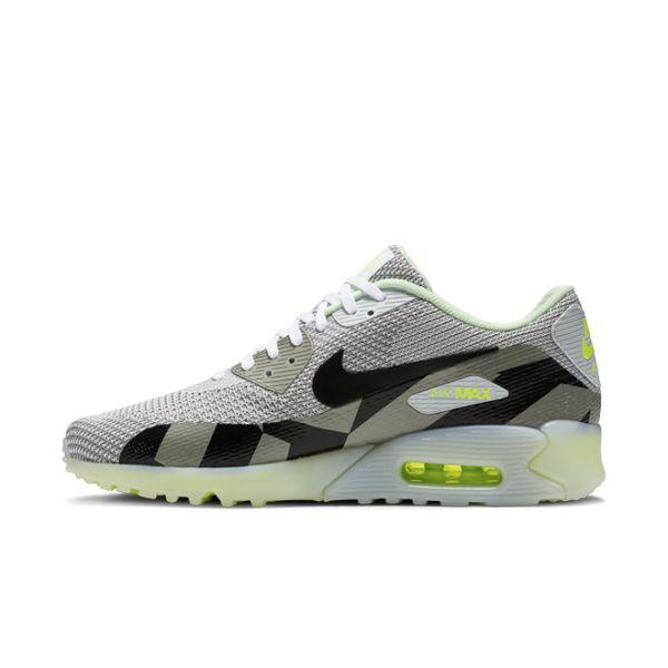 Nike Air Max 90 Chambre Blanc / Noir / Féroce Vert / Blanc