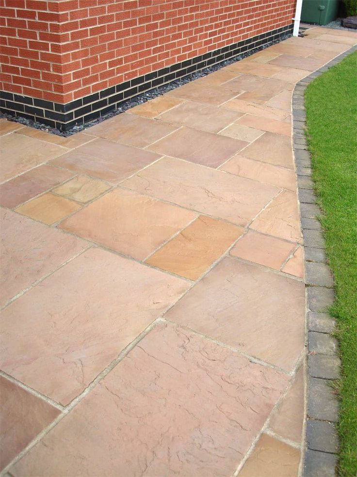 Modac-Sandstone-Paving-Patio-Kit-Calibrated-22mmPatio-KitPlum-Buff-Orange