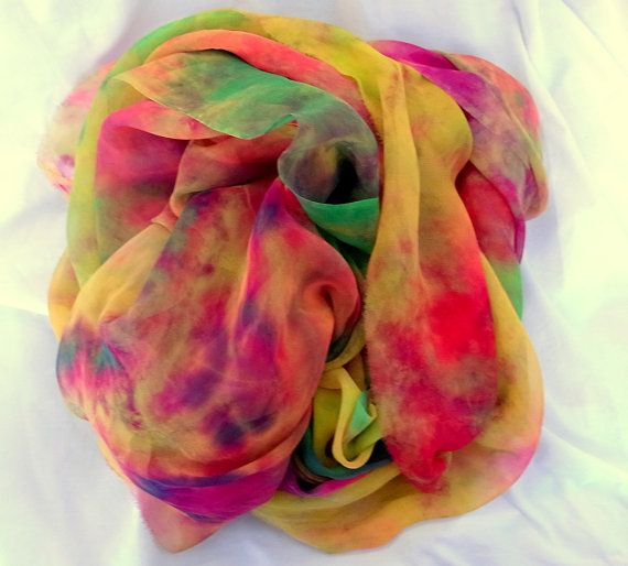 Silk Fabric  Silk Gauze Fabric  Hand dyed Silk by SallyAnnesSilks