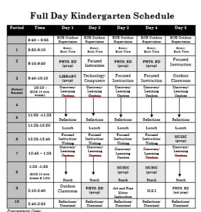 Planning for a Full Day of Inquiry Based Learning. Daily and weekly schedule. Love her inclusion of daily reflection time after independent centre time.