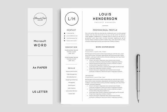 Resume Cv Template Louis Resume Design Template Cv Template Best Resume Template