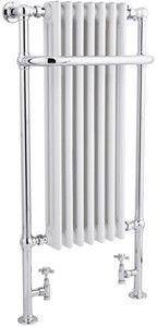 hr traditional > tall marquis towel radiator. 1130x553 (chrome). - taps4less.ie