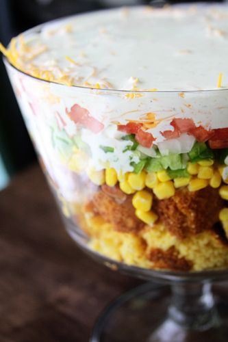 The Southern Bite – Cornbread Salad...amazing amazing side dish. People go CRAZY for this.