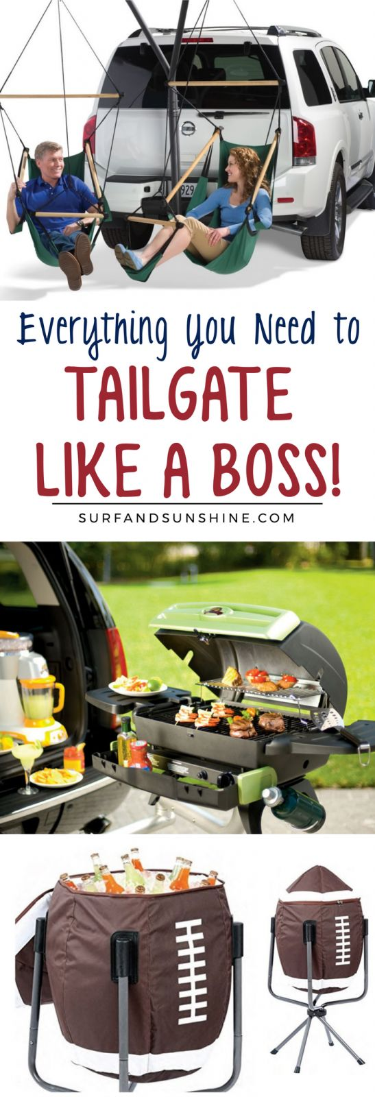 Football season is here and we're ready with this list of the most awesome tailgate gear every fan needs in order to tailgate like a boss! via @Jeanabeena