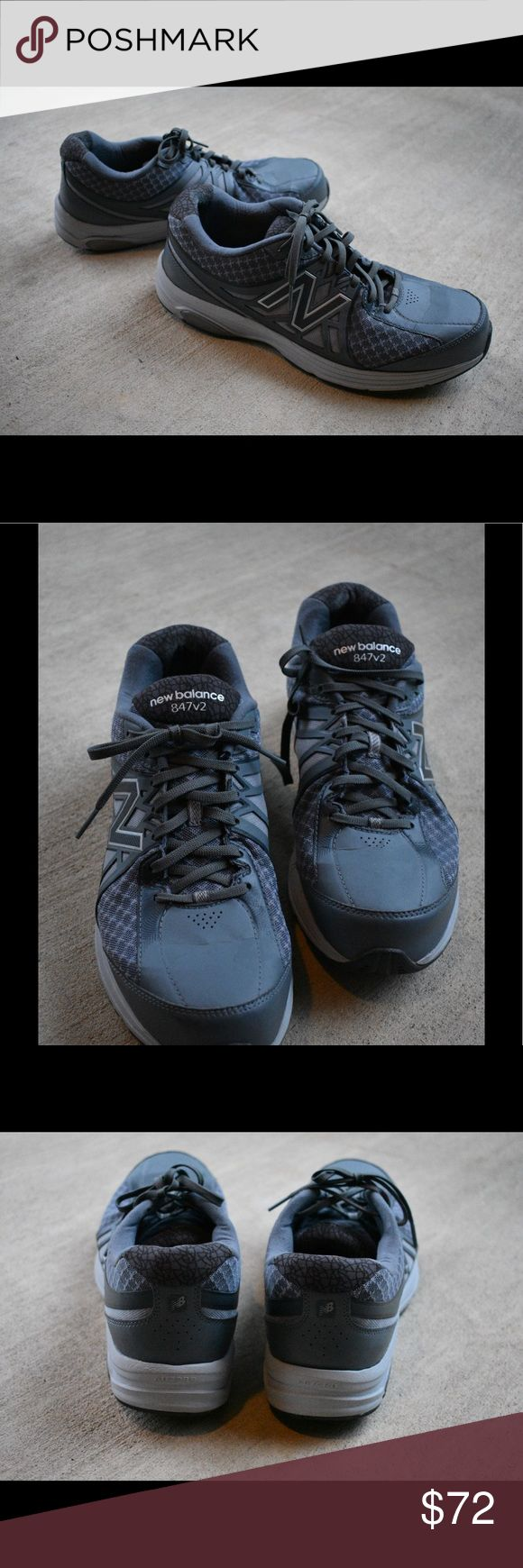 New Balance 847v2 Walking Shoes - Men New Balance Walking Shoes in size US 11. These are a dark Grey. They are slightly used, but the outside of the shoe is in good condition. There is one tear in the interior fabric near the heel. New Balance Shoes Athletic Shoes