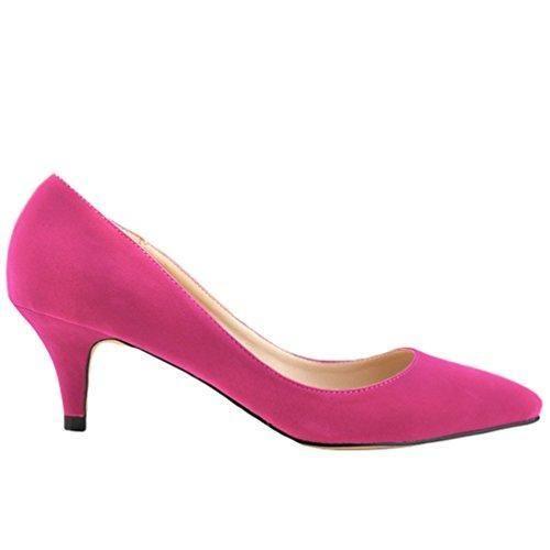 Oferta: 19.64€. Comprar Ofertas de WanYang Mujer Moda Clasico Bajo Tacón Bajo de Aguja Pointed Toe Trabajo Vestir Zapatos de Tacón barato. ¡Mira las ofertas!