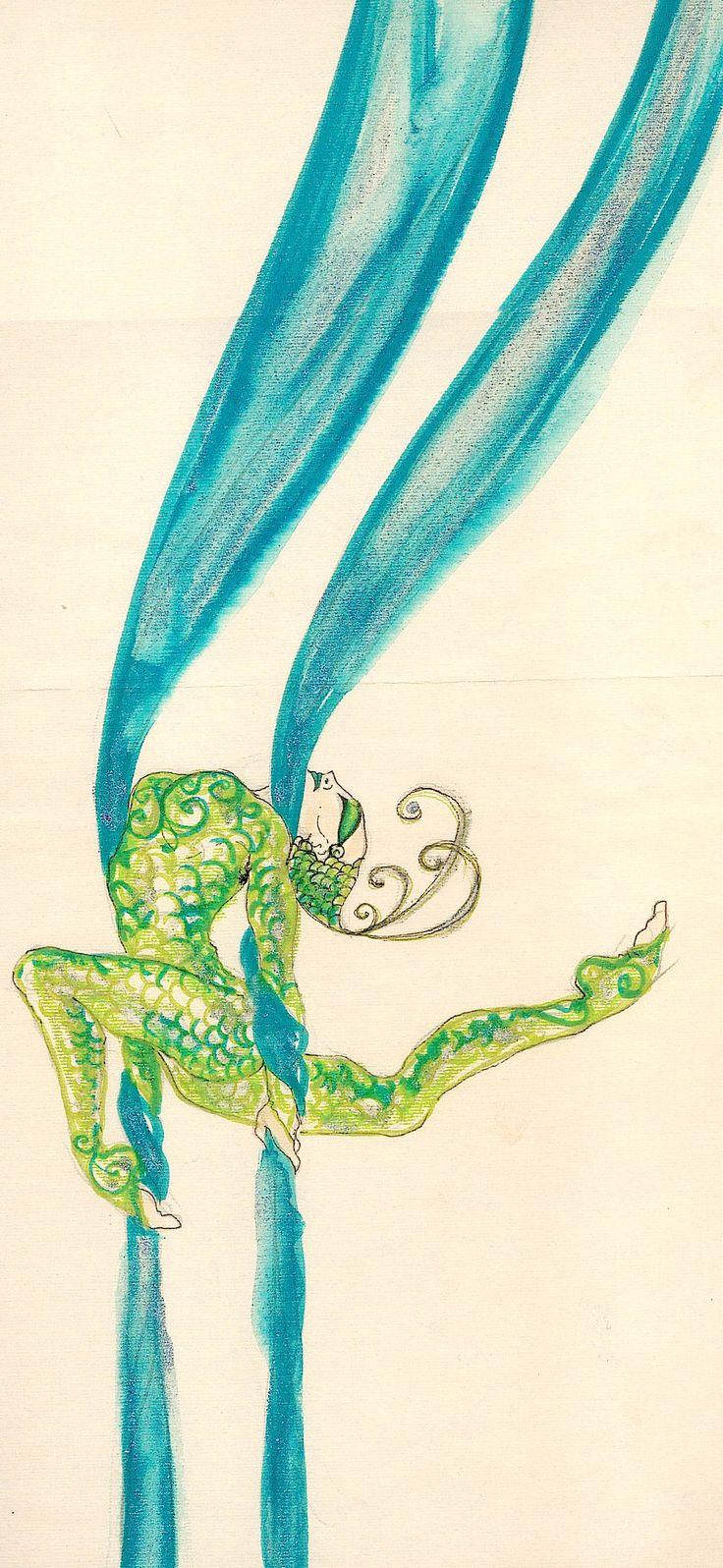 Schizzo per il costume della trapezista, Circus La Rosa Mannequins