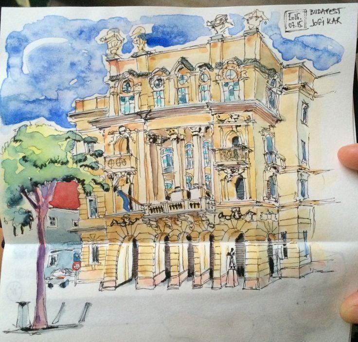 Egyetem tér, budapest #sketches