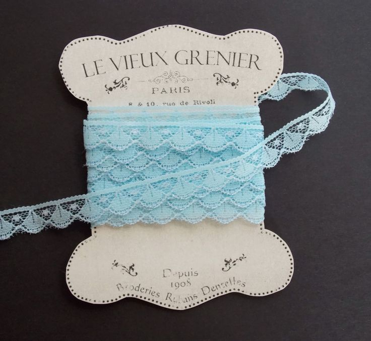 2 yards, vintage pale bleu lace, baby blue lace trim, sewing supplies, lace trim ribbon, crafting, embellishment, sewing accessories. by LeVieuxGrenier on Etsy