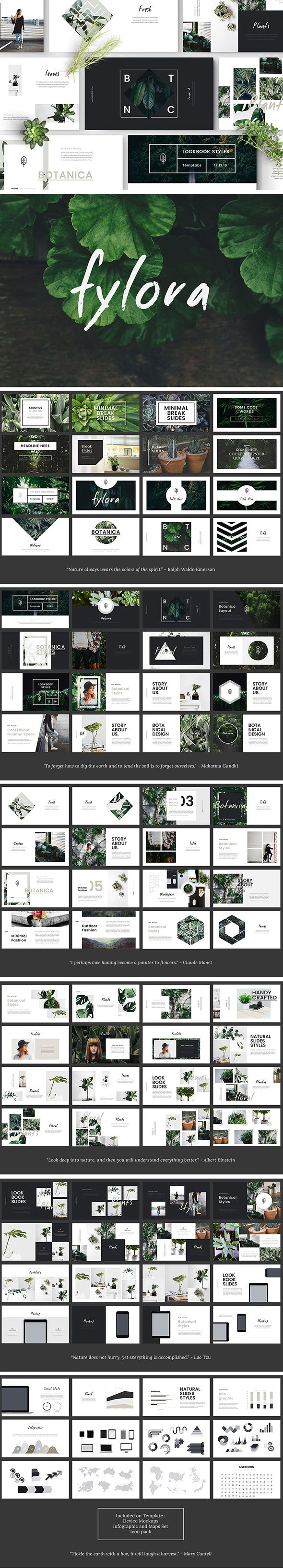#Fylora Powerpoint Template - #PowerPoint Templates Presentation #Templates Download here: https://graphicriver.net/item/fylora-powerpoint-template/20421332?ref=alena994