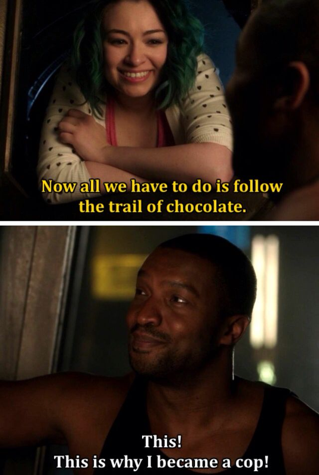 """Chocolate investigations, Dark Matter tv series, season 1, """"5 and 6"""" characters played by Jolene and Roger Cross"""