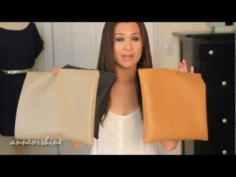 I love those leather pouches from American Apparel, but who knew you could DIY your own?!