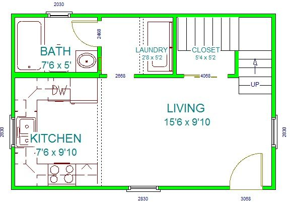 416 best images about build a small house on pinterest for 16x24 cabin floor plans