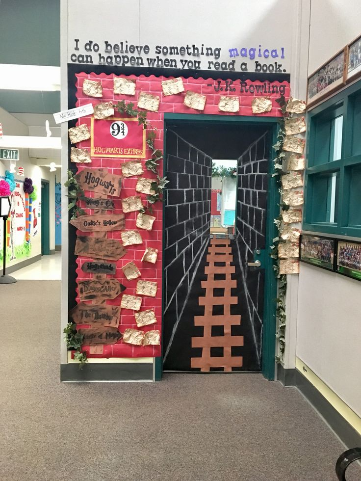 Read-A-Thon door! #harrypotter #6thgrade #platform9and3/4