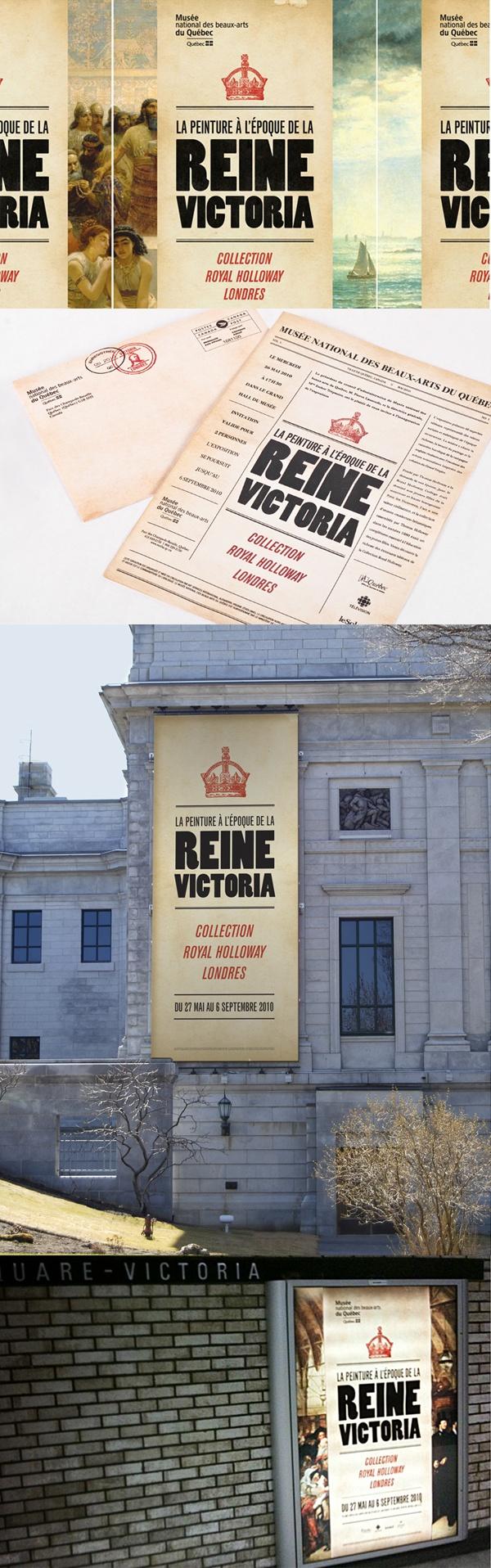 Cient : Musée National des Beaux-arts du Québec - Reine Victoria - Campagne publicitaire imprimée, design graphique, image de marque.