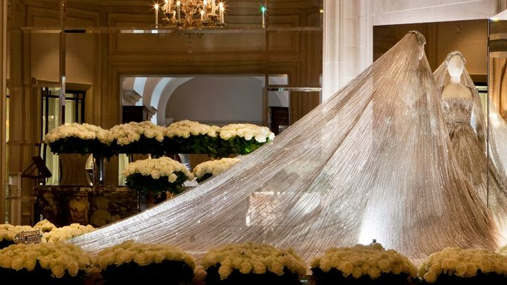 25 September 2013 Elie Saab Exhibition at Four Seasons Hotel George V in Paris
