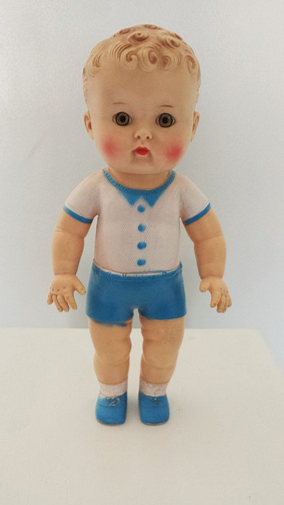 This little guy just stole my heart. Toddle Dee by the Sun Rubber Company, 1956. This sweet boy measures 10 1/2 tall and is in really good