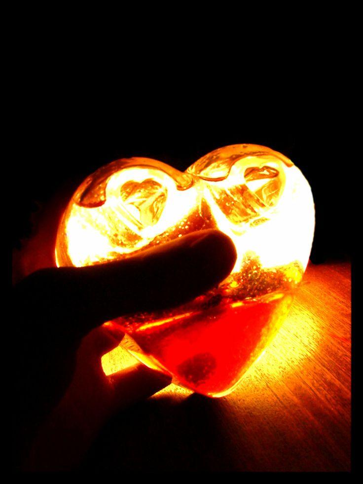valentine heart lights