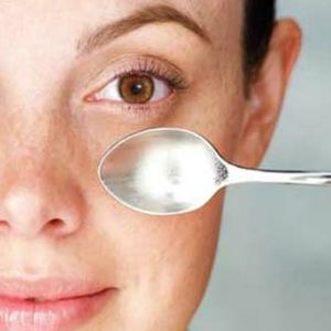 No, no, no! You don't need tea bags, teaspoons, cucumbers to remedy puffy eye bags and dark rings and wrinkles around and under the eyes. A good facial yoga toning system will do that in days! www.facelift-with...  #faceexerciseprogram #wendywilken #homeremedyeyebags