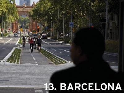 13. Barcelona, Spain (tie)