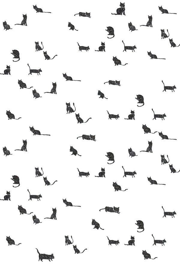 Cat Background  Black Cat Seamless Pattern  Seamless Background