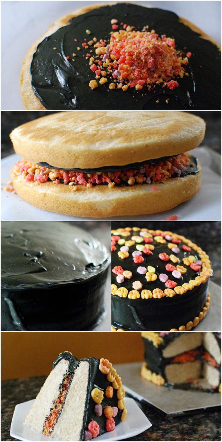 Yummy Mummy Cake #cereal #bettycrocker #halloween
