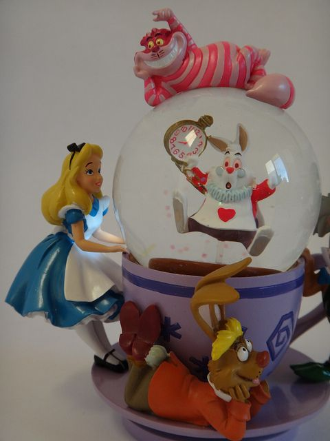 alice in wonderland disney merchandise | Disney Parks Alice in Wonderland Snow Globe - Midrange Front View ...