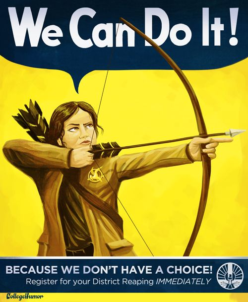 Hunger Games posterCatching Fire, The Hunger Games, Comics Book, Katniss Everdeen, Thehungergames, Rosie The Riveter, Posters, Weights Loss, Colleges Humor