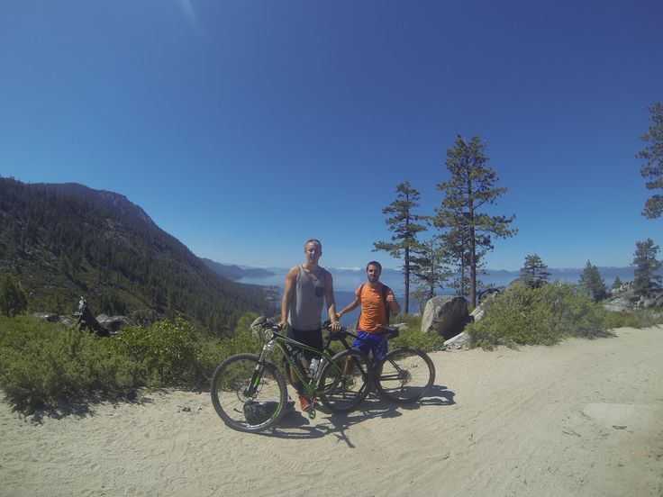 Mountain biking the Rim Trail at Lake Tahoe, CA