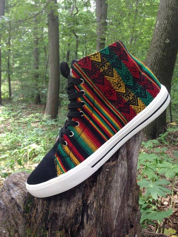 Rastafarian High Tops by PachaMamaDC on Etsy