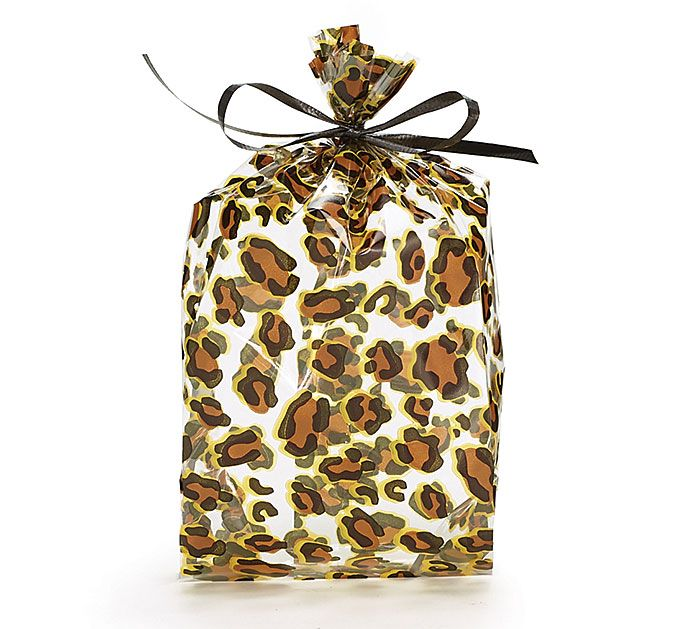 Give your guests party favors in our new leopard print cello bags from #burtonandburton! #wildaboutyou
