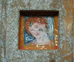 Thracians - A fresco of a red-haired woman in the Ostrusha Mound in central Bulgaria.