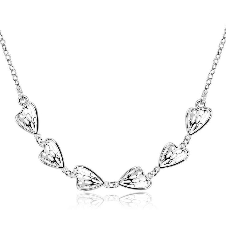 Trendy silver plated necklace men Connected to the heart corrente de prata masculina joias SMTN729
