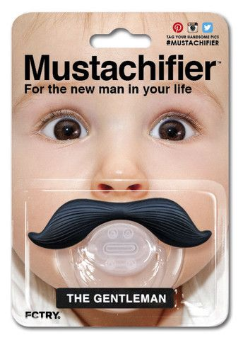 The Gentleman Mustache Pacifier by Mustachifier | Mustachifier Uncle Fun (773-477-8223), Rotofugi (773-868-3308), Little Threads (773-327-9311), Twinkle Twinkle Little One (773-472-3000), RR#1 (312-421-9079), Paper Doll (773-227-6950)