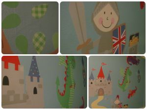 Boys knights and castles bedroom design