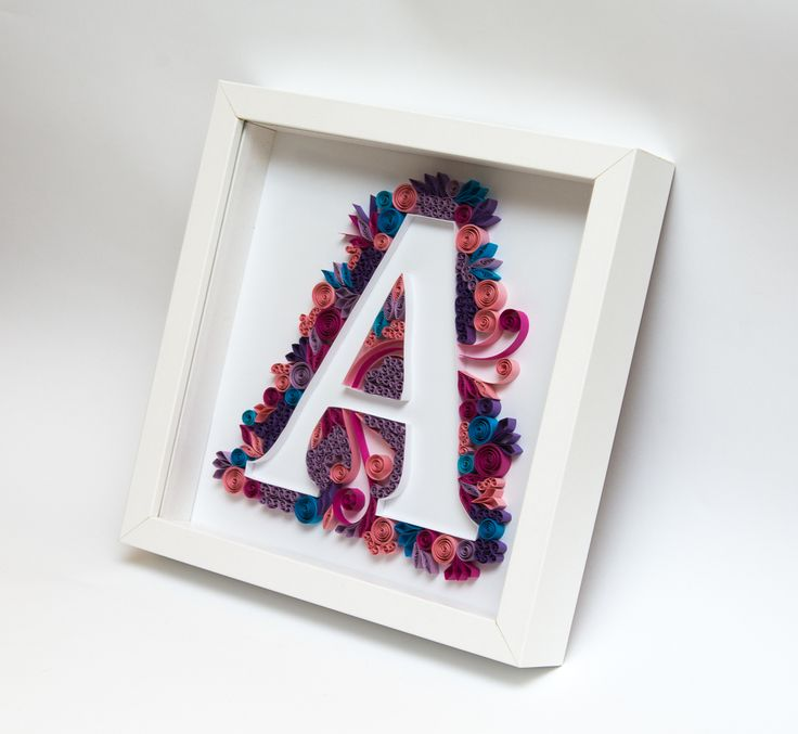 Quilling Art Quilled Monogram Letter A Initial