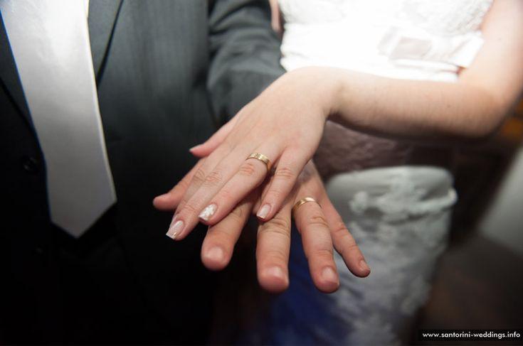 the wedding rings | sunset santorini weddings