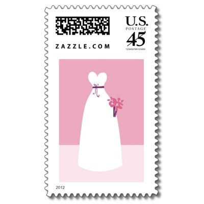 White Wedding Dress Stamps from http://www.zazzle.com/stamps   Save the date stamps etc! Cool!