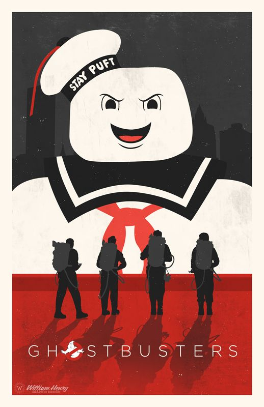 Ghostbusters Poster - Created by William Henry Prints are available at his Etsy Shop. You can also follow him on Twitter and on Facebook.