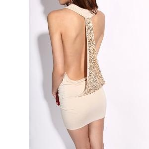 the back<3Sexy Backless, Evening Dresses, Fashion, Cocktails Dresses, Backless Sequins, Sexy Sequins, Sequins Dresses, Open Back, Krazy Sexy