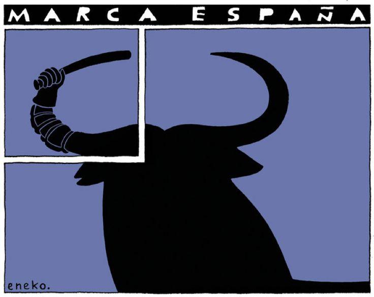 Una docena de viñetas de Eneko para retratar la 'Marca España'