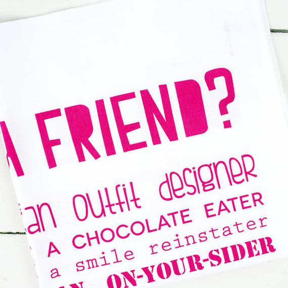 What Is A Friend Poem Tea Towel Best Friend by bespokeverse