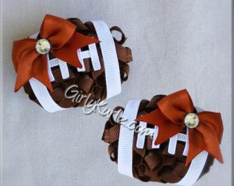 Football Hair Bow Football Bow NFL Hair Bow Football by GirlyKurlz