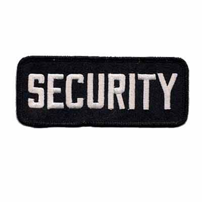 """Security"" Shoulder Patch Embroidered Iron or sew on appliqué $2.99"