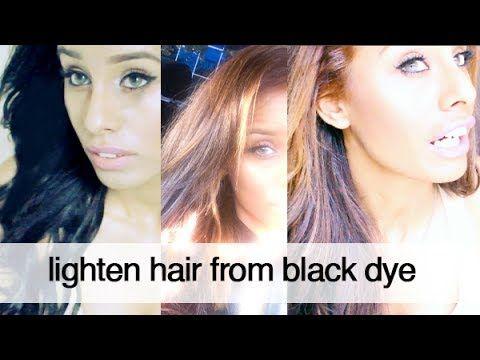 HAIR  How I Lightened Dyed Black Hair Without Bleach