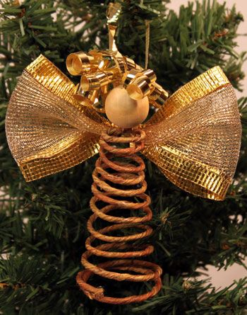 Easy Angel Crafts Spiral Wire Angel another finished angel on tree