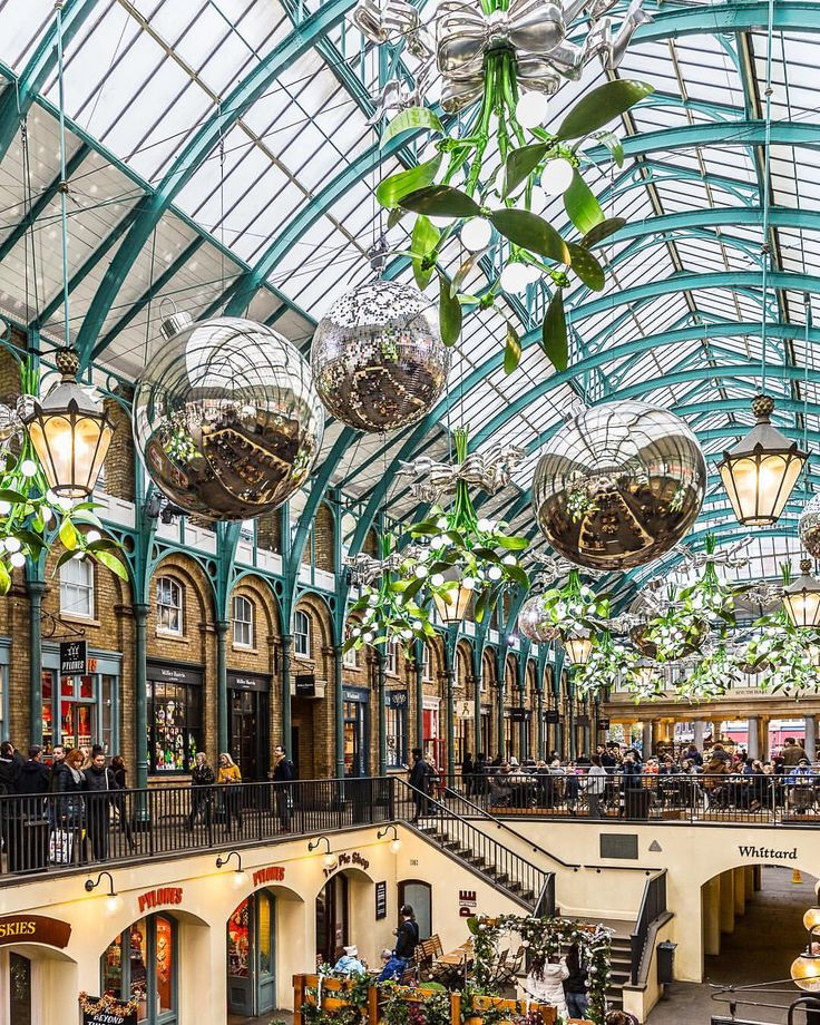 Christmas Places To Visit In London: Covent Garden At Christmas In London. This Is One Of The