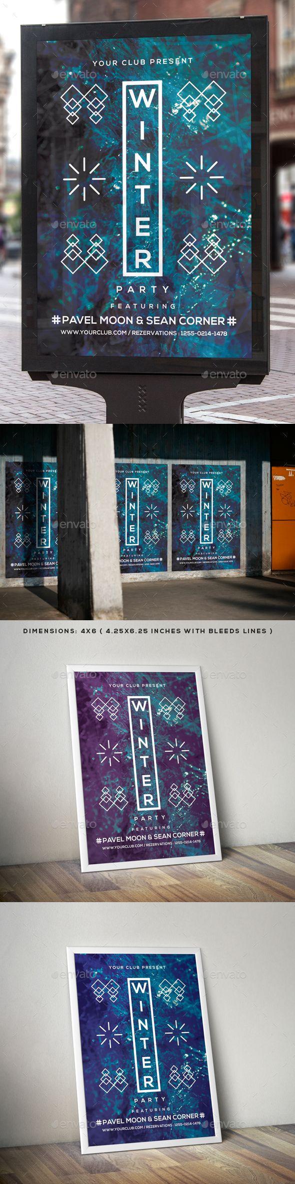 Winter Flyer Poster Template PSD