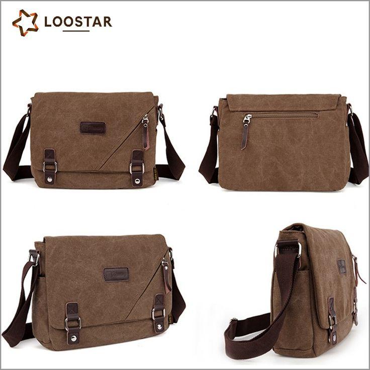 Loostar Multi Fabric Wholesale Bag Mens Canvas Messenger Bag